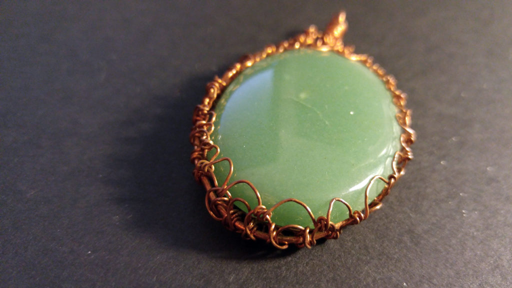 Adventurine and Copper Pendant